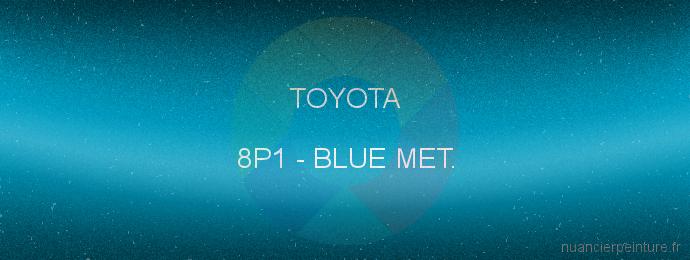 Peinture Toyota 8P1 Blue Met.