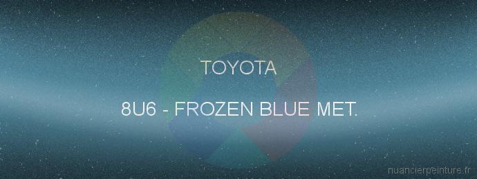Peinture Toyota 8U6 Frozen Blue Met.
