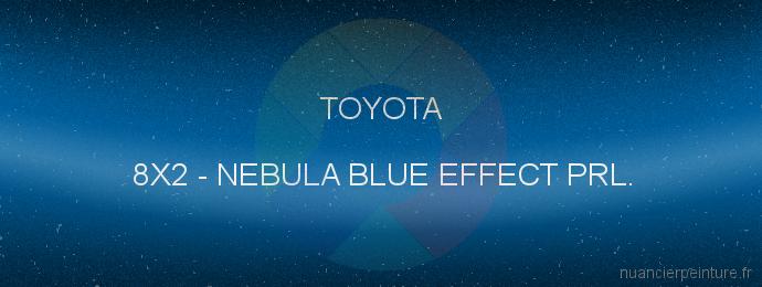 Peinture Toyota 8X2 Nebula Blue Effect Prl.
