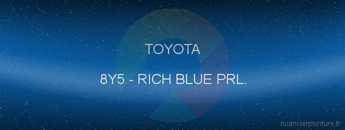 Peinture Toyota 8Y5 Rich Blue Prl.