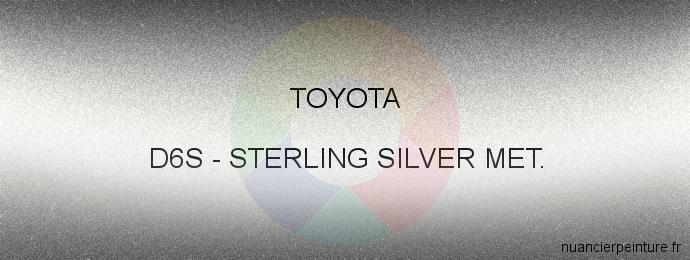Peinture Toyota D6S Sterling Silver Met.