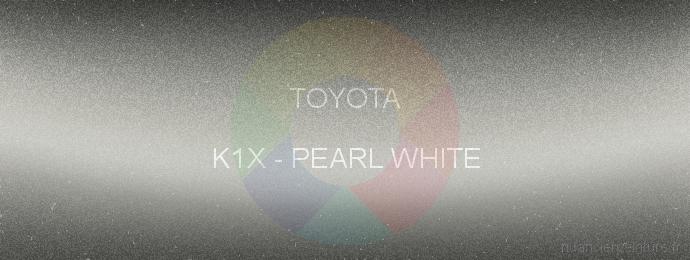 Peinture Toyota K1X Pearl White