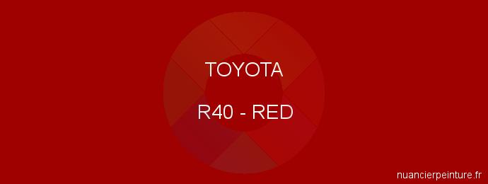 Peinture Toyota R40 Red