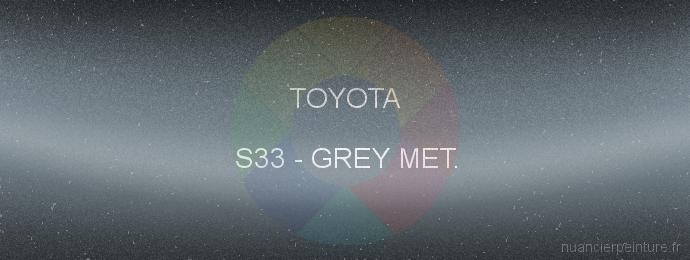 Peinture Toyota S33 Grey Met.