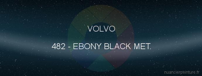 Peinture Volvo 482 Ebony Black Met.