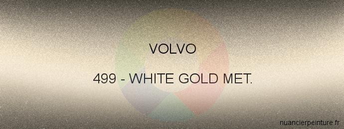 Peinture Volvo 499 White Gold Met.