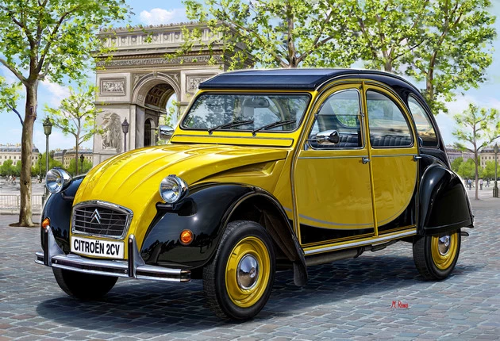 Citroën 2CV peinte en brillant direct