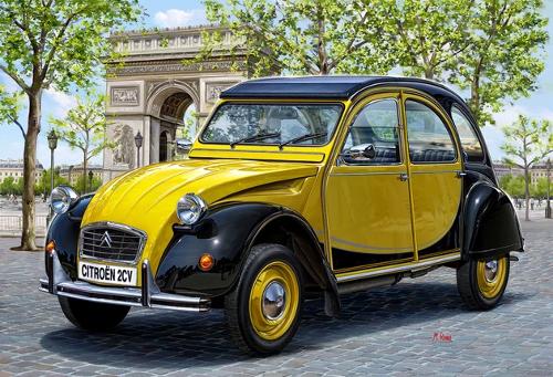 Citroën 2CV peinte en brillant direct